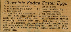 Recipe for Chocolate Fudge Easter Eggs