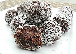 Coconut Rolled Chocolate Easter Egg Cookies